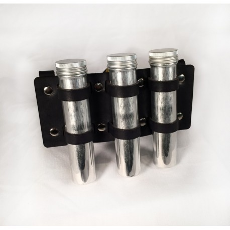 Sample Holder with 3 metal tubes