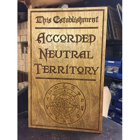 Neutral Ground Sign
