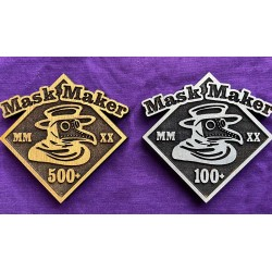 Mask Maker Commemorative Pin