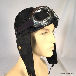 Silver Aviator Goggles